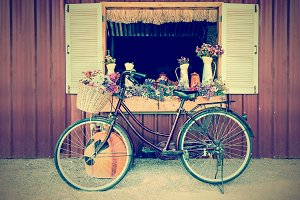 Old bicycle vintage style
