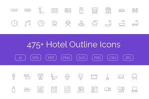 475+ Hotel Outline Icons