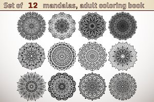 Set of 12 mandalas
