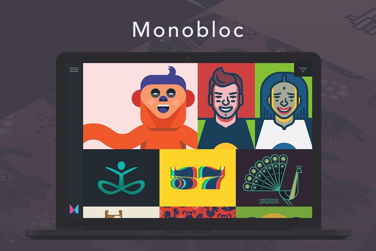 Monobloc Tumblr Theme ~ Tumblr Themes ~ Creative Market