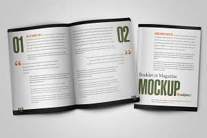 8.5x11 Booklet or Magazine Mock-up