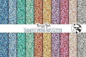 Seamless Spring Hues Glitter