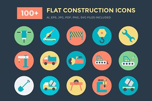 100+ Flat Construction Icons