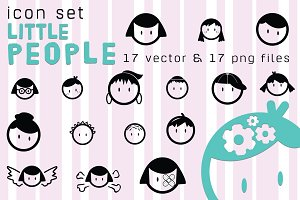 Icons LITTLE PEOPLE vector/png