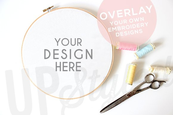 A embroidery hoop mock up product mockups creative
