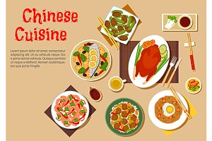 Chinese peking duck and other dishes