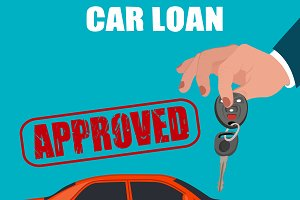 car loan, flat design, vector