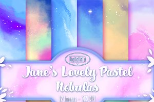 Pastel Nebula Seamless Patterns
