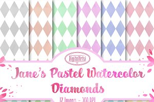 Pastel Watercolor Diamond Paper