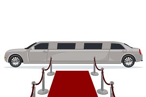 limousine and red carpet concept