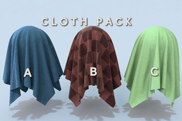 3D Man-Made: Fiat Lux - Cloth Pack (Tileable)