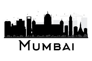 Mumbai City Skyline Silhouette