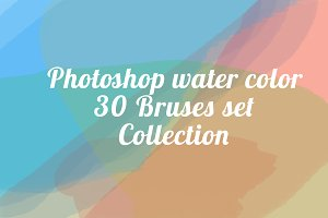 Water Color Brushes for Photoshop