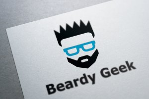 Beardy Geek Logo Template