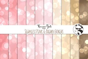 Seamless Pink & Brown Bokehs