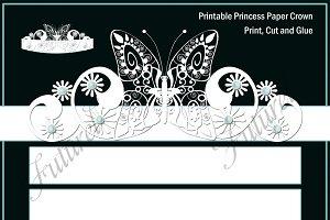 Printable Princess paper crown
