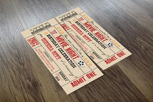 Vintage Movie Ticket