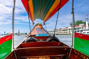 Popular boat travel. Thailand