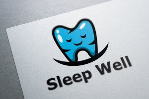 Sleep Well Dentist Logo Template
