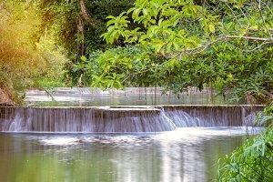 Waterfall in rain forest