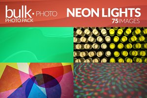 Neon Lights Photo Pack - 75 Images