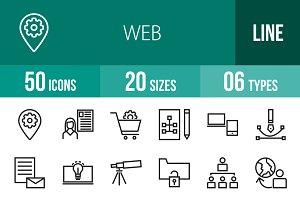 50 Web Line Icons