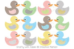 Pastel Color Rubber Duck