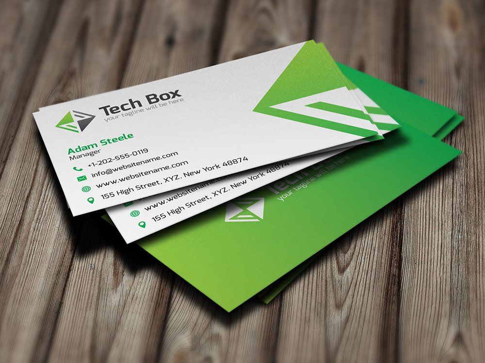 50% OFF] Tech Box Business Card ~ Business Card Templates ~ Creative ...