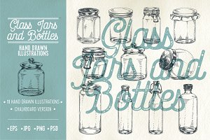 Jars and Bottles illustrations
