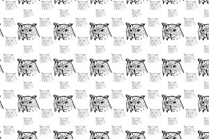 Seamless pattern of siberian eagle o