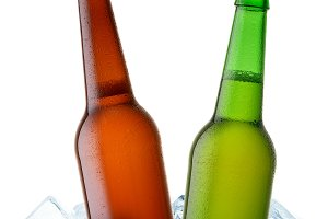 two beer bottle cool