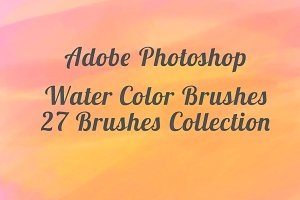 Water Color 27 Brushes for Photoshop