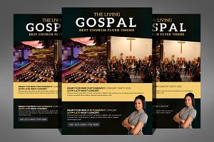 Living Gospel Church Concert Flyer