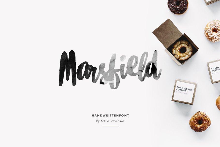 Marsfield   Hand Written Font
