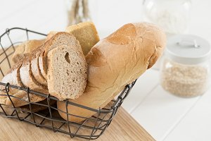 White Bread in basket