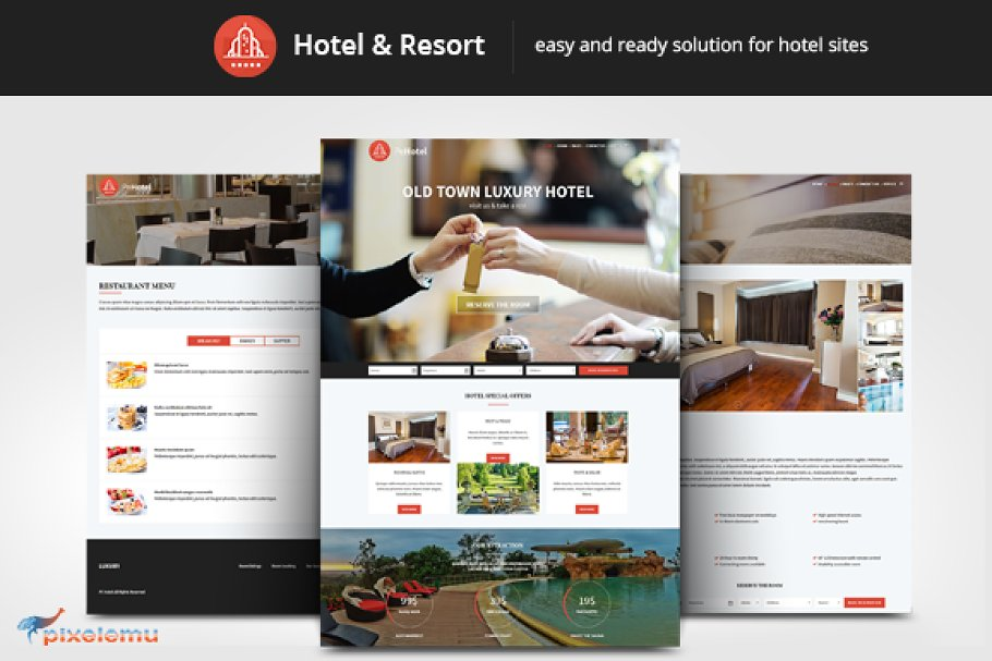 c723d2c15c07f Hotel   Resort WordPress Theme ~ WordPress Business Themes ~ Creative Market