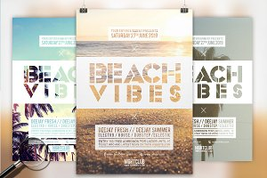 Beach Vibes | 3in1 Flyer Template