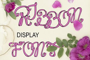Ribbon display font