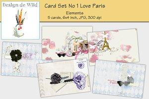 Card Set No 1 Love Paris