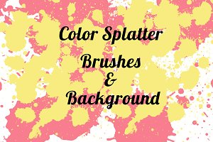 8 Splatter Brushes for Photoshop