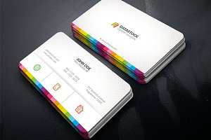 Creative Multicolor Business Card