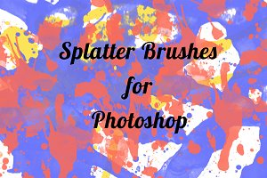4 CoolSplatter Brushes for Photoshop
