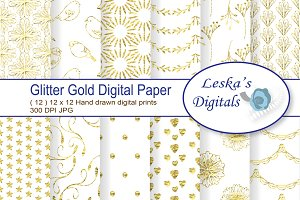 Glitter Gold Digital Paper