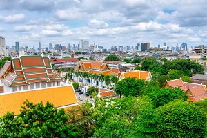 The city of Bangkok.