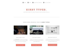 TYPED. Blog theme for Kirby 2.3