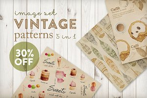 Vintage patterns (5 in 1)