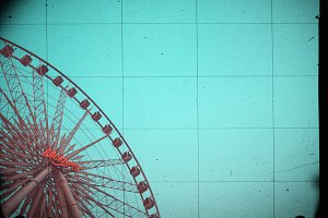 Ferris Wheel on sky for background