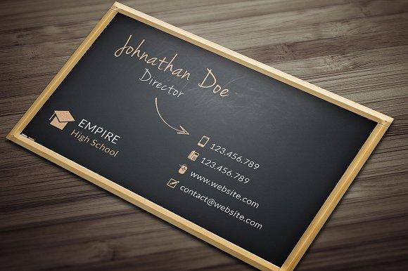 blackboard business card business card templates creative market