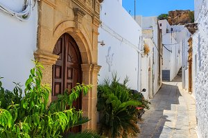 Lindos is the most popular tourist place on the Rhodes island
