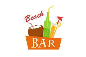 Beach Bar Concept Illustration